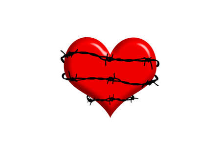 heart with barbed