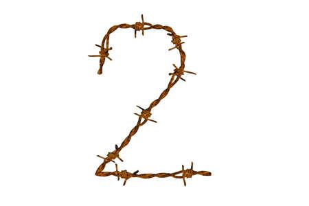 Barbed wire alphabet Stock Photo - 18364746