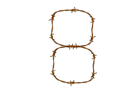 Barbed wire alphabet