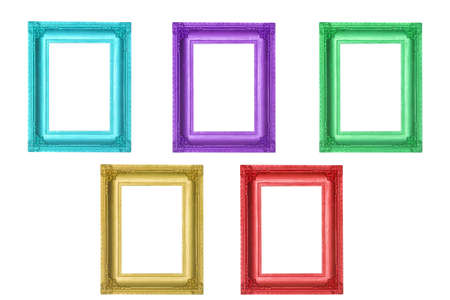 Set of colorful frames Stock Photo