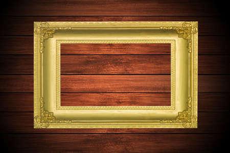 Vintage frame on wood background Stock Photo