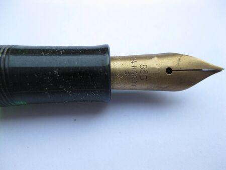 Yeserday's office: Vintage pen Stock Photo - 3653318