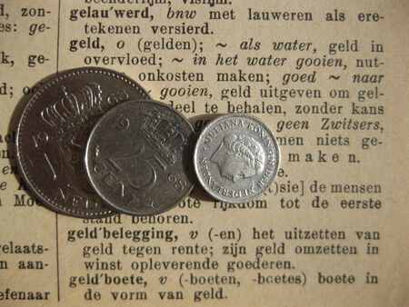 gulden: dictionary and vintage Dutch coins