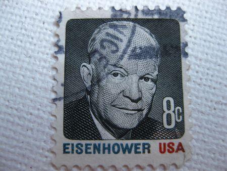 eisenhower: Vintage Eisenhower 8 cent stamp