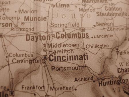 Vintage map: Cincinnati Stock Photo - 3673389