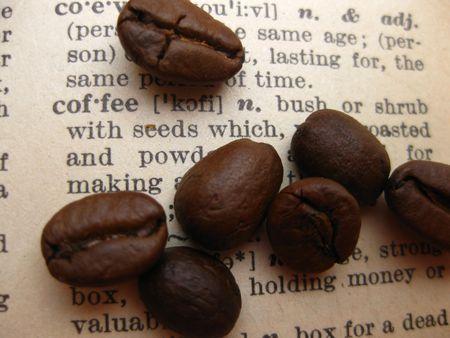 pr�voyance: caf� dans un dictionnaire Banque d'images