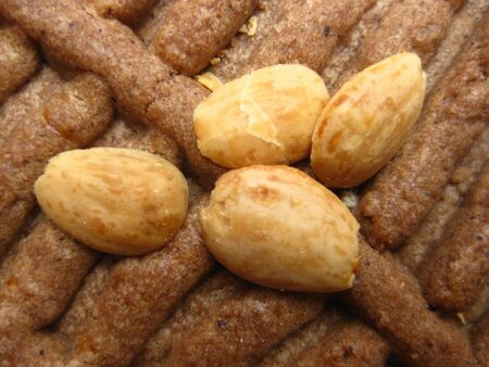 speculaas: Speculaas, Dutch Cookie with almonds Stock Photo