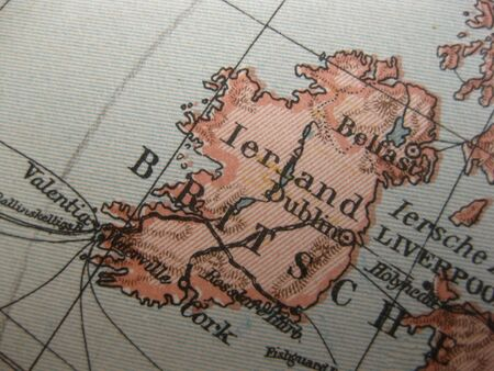 eire: Vintage map of 1929: Ireland