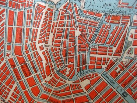 Vintage map of 1929: Amsterdam, Holland photo