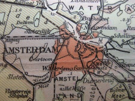 Vintage map of 1929: Amsterdam, the netherlands photo