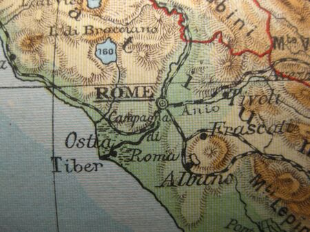 rome italie: Vintage carte de 1929: Rome, Italie
