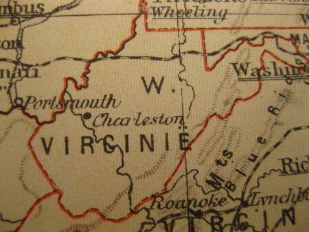 Vintage map of 1929: West Virinia, Mountain state photo
