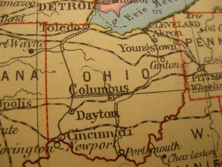 buckeye: Vintage map of 1929: Ohio, Buckeye state