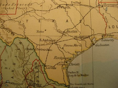 Vintage map of 1929: Texas, Lone star state photo