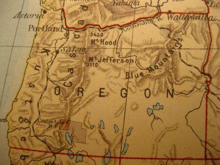 state of oregon: Vintage map of 1929: Oregon, Beaver State