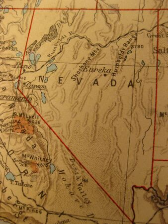 silver state: Vintage map of 1929: Nevada, the silver state