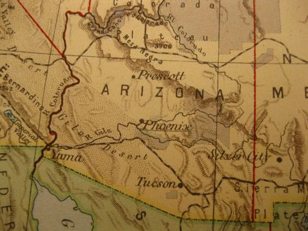 state of arizona: Vintage map of 1929: Arizona, Grand Canyon state