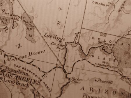 Vintage map of 1929 in sepia: Las Vegas NV photo