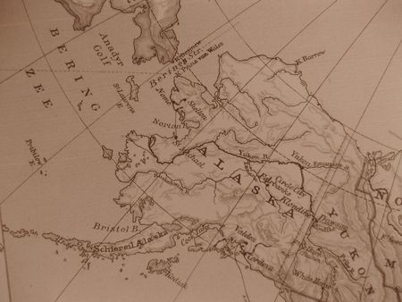 Vintage map of 1929: Alaska, the last Frontier