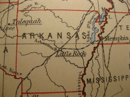 arkansas state map: Vintage map of 1929: Arkansas, the Natural state