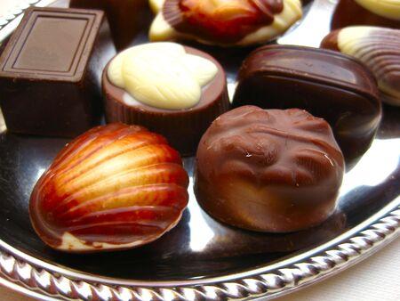 cafe bombon: B�lgica chocolate en plato de plata