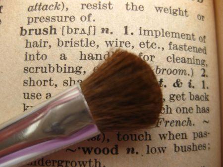 thesaurus: the dictionary: brush Stock Photo