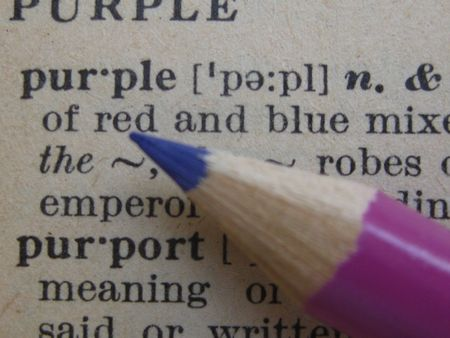 definition define: the dictionary: pencil on purple