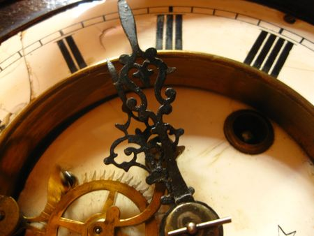 Detail of a vintage clock  photo