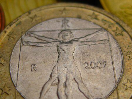 Uomo universale on 1 euro coin