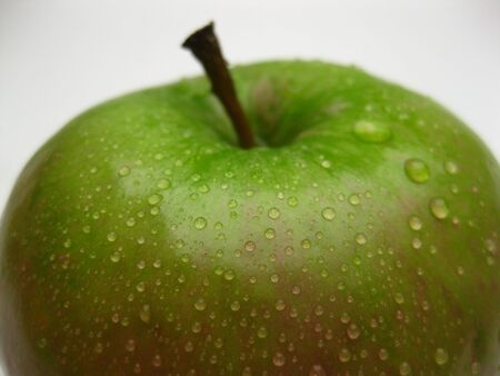 pomme: A frwsh green apple Stock Photo
