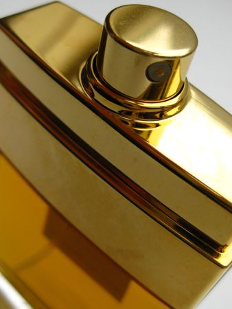 whiff: Close up of a perfume bottle