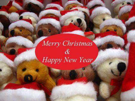 Christmas bears greeting card photo
