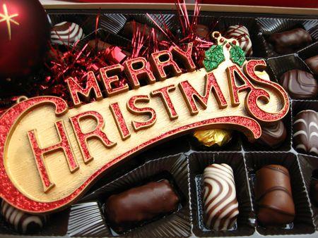 Merry Christmas chocolates photo