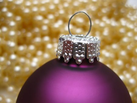 christmas ornament and pearls photo