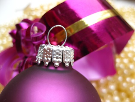 christmas decorations in purple photo