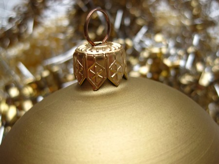 Christmas decorations in gold photo