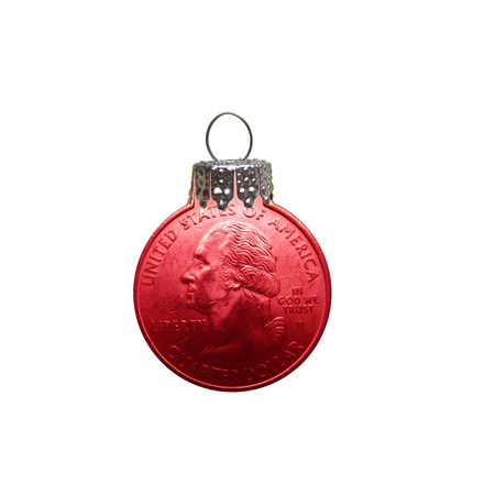 quarter dollar christmas ornament Stock Photo - 3942219