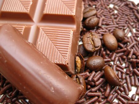 milk chocolate on pure sprinkles photo