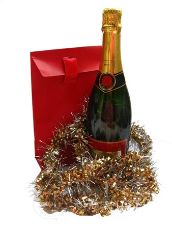 champagne gift Stock Photo - 4023952