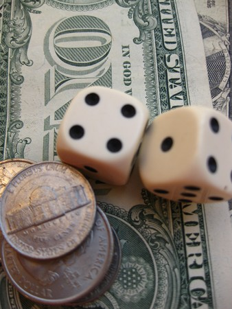 dices on dollars Stock Photo - 4064650