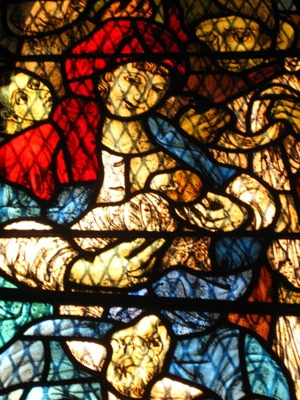 Stained glass church window Stock Photo - 4069557