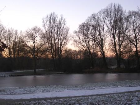 icey: Frozen pond in the dawn