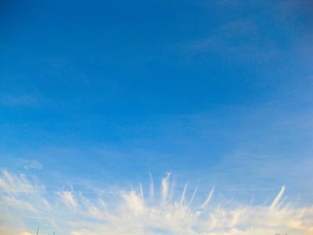 cloud drift: Blue sky