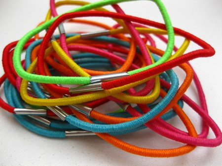Hairdressers equipment elastic bands photo