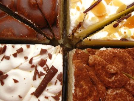 chocolaty: Chocolate cake in close up