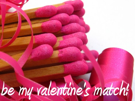 Be my valentine's match Stock Photo - 4206747