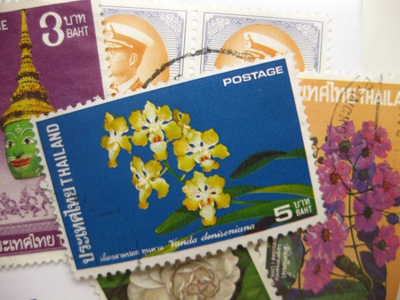 varied: Vintage stamps from Thailand