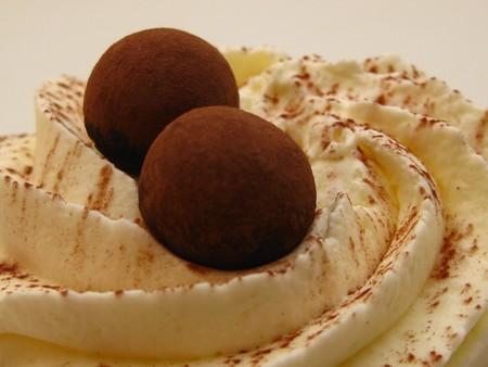 Chocolate decorations and cream  Stock Photo - 4329937