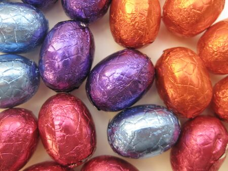 Chocolate easter eggs photo