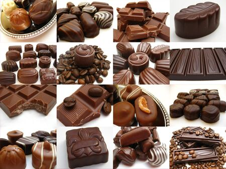 cioccolato natale: Cioccolato collage
